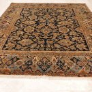 RARE 9x12 WOOL AREA RUG HANDMADE PATCHWORK BLACK GOLD