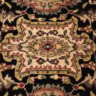 6x9 RUG PERSIAN HANDMADE OLD WORLD BLACK RED MAHAL