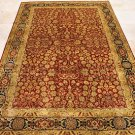 6x9 RUG HANDMADE PERSIAN HAJI JALILI RUST GOLD BLUE NEW