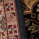 6x9 WOOL SILK RUG PERSIAN HANDMADE BLACK GOLD BURGUNDY