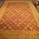 12x18 WOOL AREA RUG PAK PERSIAN HANDMADE BURGUNDY IVORY