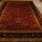 12x18 WOOL AREA RUG KASHAN RUST NAVY HANDMADE OVERSIZE