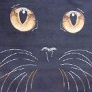 5x8 AREA RUG BLACK CAT HAPPY HALLOWEEN WITCH FACE 684