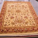 10x13 IVORY RED GREEN GOLD RUG SHAW KATHY IRELAND FIRST LADY 3V176/12100 NYLON