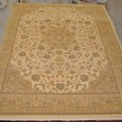 10x13 TAN GOLD TAUPE GREEN RUST AREA RUG ISPAHAN LARGE OVERSIZE NEW BELGIUM