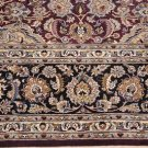 8x8 SQUARE WOOL HANDMADE AREA RUG PERSIAN WINE BLACK