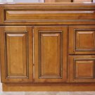 36 Inch Heritage Style Caramel Bathroom Vanity Right Drawers Cabinet 36""