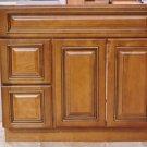 "36 Inch Heritage Style Caramel Bathroom Vanity Left Drawers Cabinet 36"""