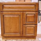 30 Inch Heritage Style Caramel Bathroom Vanity Right Drawers Cabinet 30""