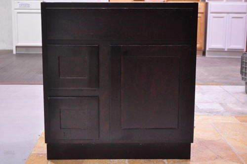 30 inch shaker style espresso bathroom vanity left drawers cabinet 30