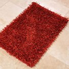 NEW 2x3 HANDMADE WOOL AREA RUG SHAGGY FLAT CHIPS RED