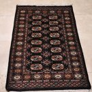 3x4 RUG HANDMADE WOOL TRIBAL BOKHARA NAVY BLUE RED TAN