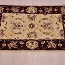 NEW 2x3 AREA RUG HANDMADE TUFTED SILK WOOL IVORY RED