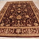 9x12 AREA RUG PERSIAN VEGETABLE DYE WOOL RED BROWN GOLD