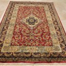 6x9 RUG VICTORIAN WOOL MASTERPIECE HANDMADE RED BLACK