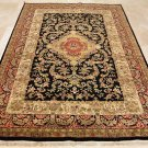 6x9 WOOL RUG VICTORIAN BLACK RED MASTERPIECE HANDMADE