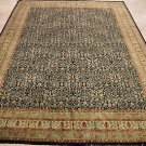 10x14 AREA RUG HANDMADE KNOTTED BLACK IVORY MASTERPIECE