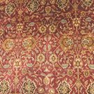8x10 WOOL AREA RUG PERSIAN JAIPUR HANDMADE RED GREEN 144 KPSI BURGUNDY IVORY