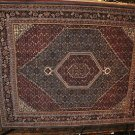 8x10 WOOL AREA RUG PERSIAN BIDJAR HANDMADE RED BLUE LT