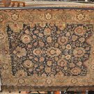8x10 WOOL RUG PERSIAN KASHAN HANDMADE BLUE GOLD PLUSH