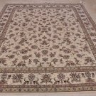 8x10 WOOL & SILK HAND KNOTTED AREA RUG IVORY MADE CHINA
