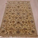 4x6 WOOL AREA RUG PERSIAN BEIGE BEIGE HAND MADE TUFTED