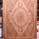 8x10 RUG BROWN FRENCH AUBUSSON SAVONERRIE TAPESTRY THIN