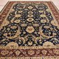 10x14 WOOL AREA RUG VEG DYE HANDMADE BLUE PLUM PERSIAN