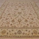 NEW 10x14 WOOL AREA RUG HANDMADE BEIGE KNOTTED INDIA