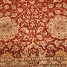 10x14 WOOL AREA RUG FINE PERSIAN RUST BEIGE HANDMADE