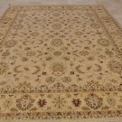 10x14 WOOL AREA RUG VEGETABLE DYE HANDMADE BEIGE GOLD