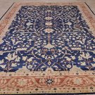 10x14 WOOL AREA RUG VEG DYE HANDMADE BLUE RUST BROWN