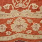 7x10 RUG VEGETABLE DYE RUST BROWN IVORY CHOBI HANDMADE