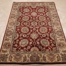 4x6 WOOL AREA RUG HANDMADE PERSIAN JAIPUR RED BEIGE