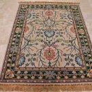 HANDMADE PERSIAN AREA RUG 5x7 BEIGE GREEN REVERSIBLE