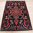 HANDMADE PERSIAN AREA RUG 4x6 NAVY BLUE RED NAIN FINE