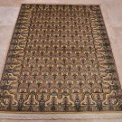 HANDMADE PERSIAN RUG 4x6 BOKHARA WOOL IVORY LIGHT GOLD