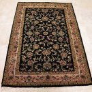 HANDMADE PERSIAN AREA RUG 4x6 BLACK ROSE NAIN FINE
