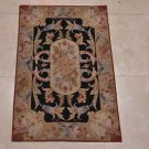 2x3 HANDMADE WOOL AREA RUG FRENCH AUBUSSON SAVONNERIE