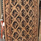 NEW 6x9 WOOL AREA RUG HANDMADE INDIA BLACK FLORAL