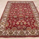 6x9 WOOL AREA RUG HANDMADE RED IVORY JAIPUR PERSIAN NEW