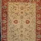 6x9 WOOL AREA RUG HANDMADE VEGETABLE DYE IVORY RUST