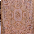 8x10 RUG IVORY GOLD FRENCH AUBUSSON SAVONERRIE TAPESTRY THIN