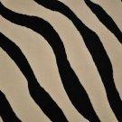 8x11 Machine Made Rug Black White Zebra Pattern