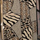 8x11 Machine Made Rug Zebra Tiger Leopard Giraffe Print