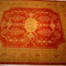8x10 WOOL HANDMADE AREA RUG VEG DYE CHOBI RUST GOLD NEW