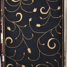 NEW MODERN 5x8 INDO NEPAL BLACK FLORAL WOOL AREA RUG