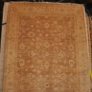 8x10 WOOL HANDMADE RUG BROWN BEIGE IVORY GOLD PERSIAN