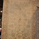 7x10 WOOL HANDMADE AREA RUG IVORY PEACH PERSIAN MUTED