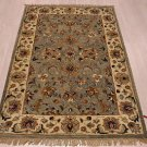 4x6 WOOL AREA RUG PERSIAN SILVER IVORY HAND MADE TUFTED